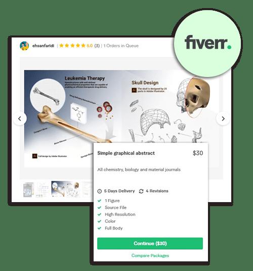 Fiverr scientific illustrations