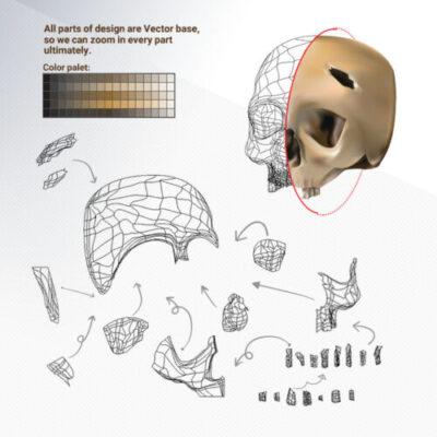 skull illustration sample